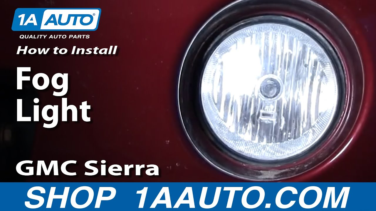 How To Replace Fog Lights 03-06 GMC Sierra 2500