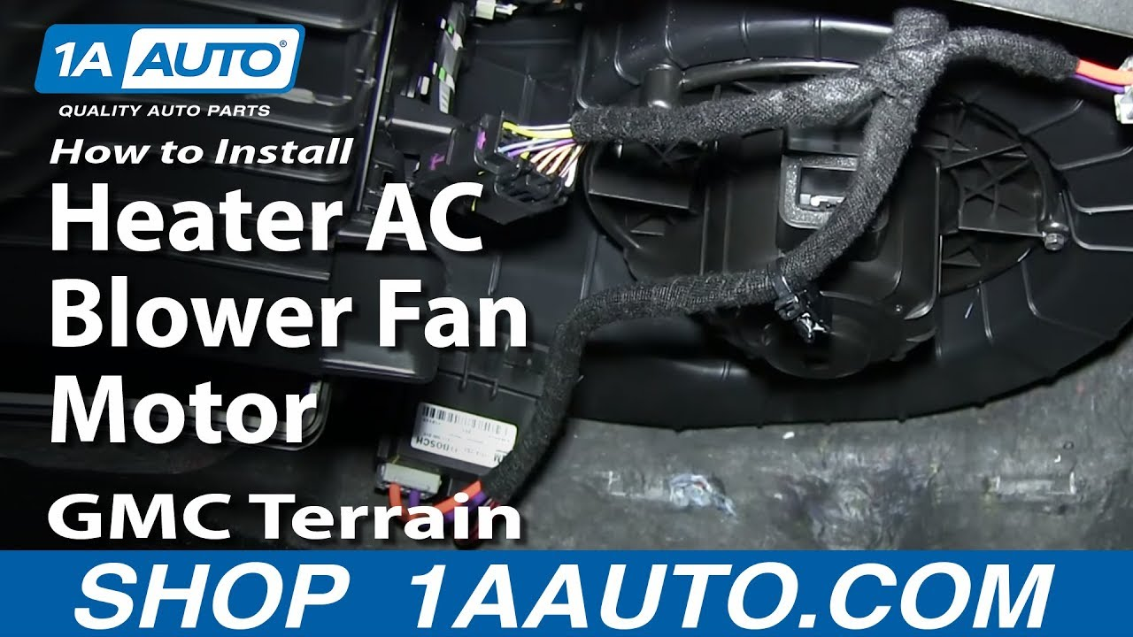 How To Replace Heater Blower Motor With Fan Cage 10 17 Gmc