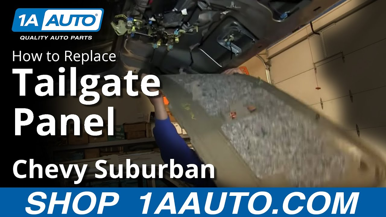 How To Remove Interior tailgate Panel 00-06 Chevy Suburban