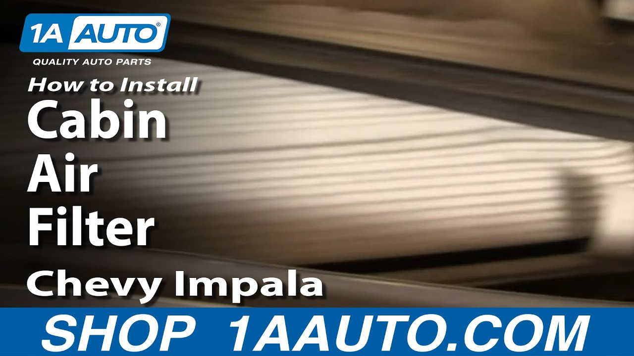 How to Replace Cabin Air Filter 00-13 Chevy Impala
