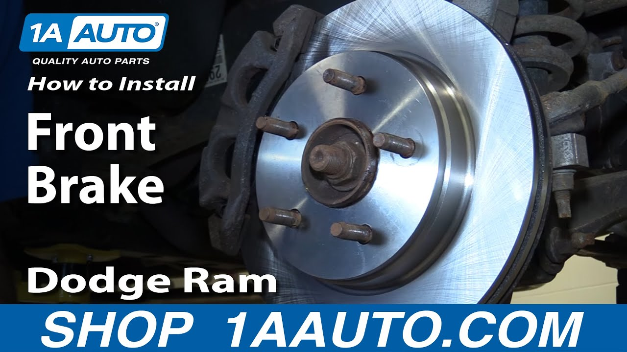 How to Replace Front Brakes 02-05 Dodge Ram 1500