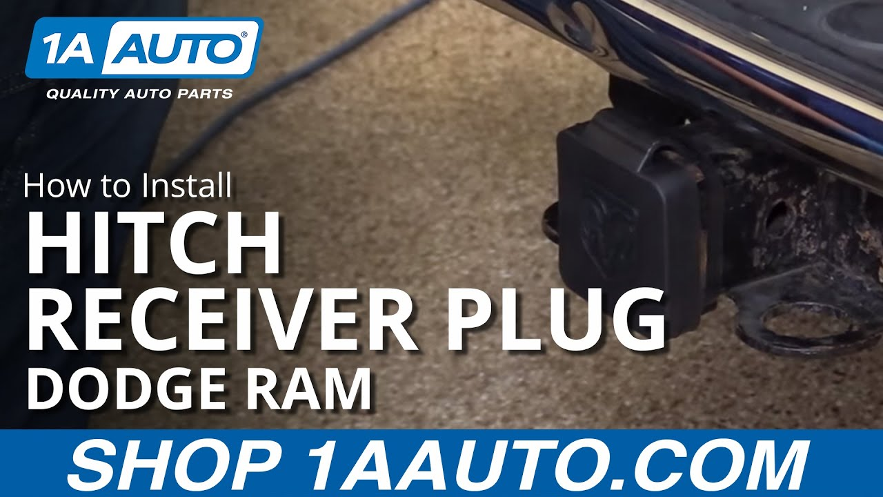 How to Install Dodge Ram Trailer Hitch Receiver Plug - Available on 1aauto.com
