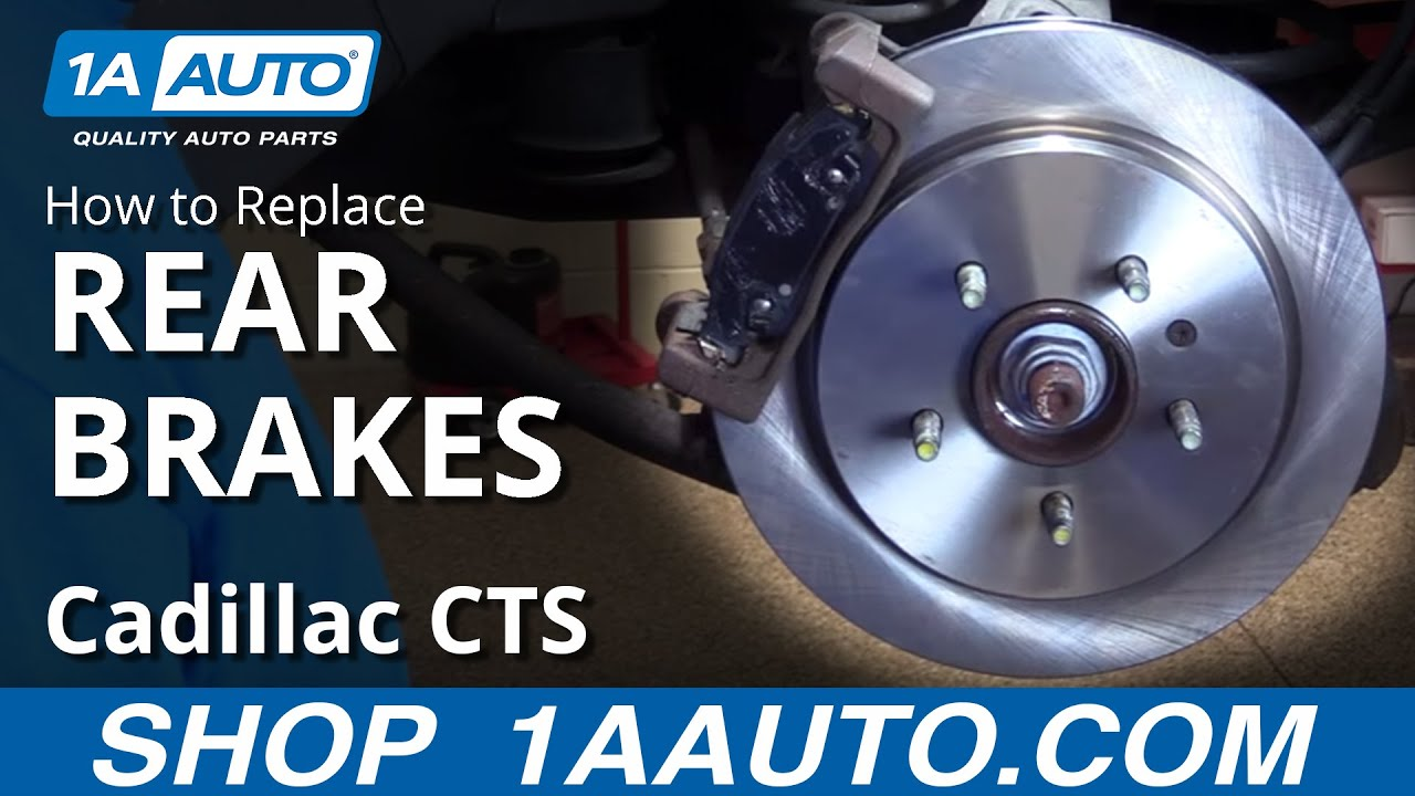 How to Replace Rear Brakes 03-07 Cadillac CTS