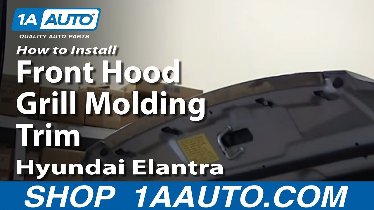 How To Install Replace Front Hood Grill Molding Trim 2001-06 Hyundai Elantra