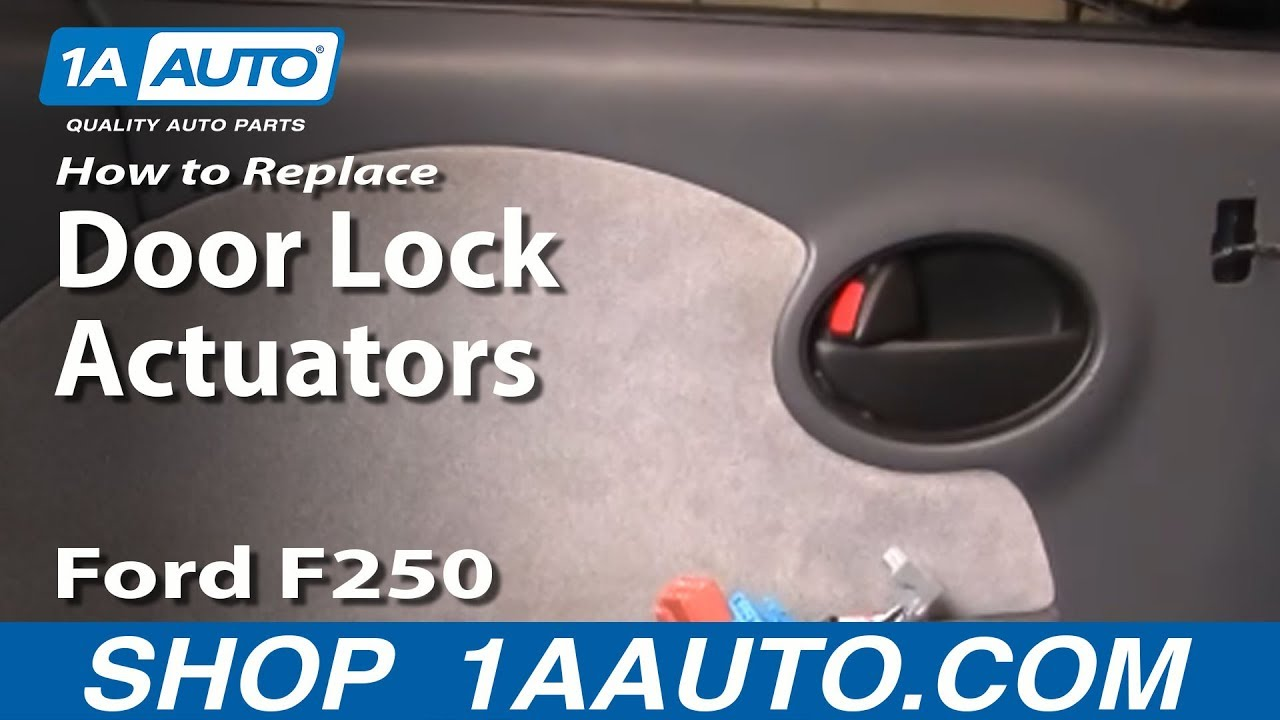 How to Replace Door Lock Actuators 99-10 Ford F250 Super Duty