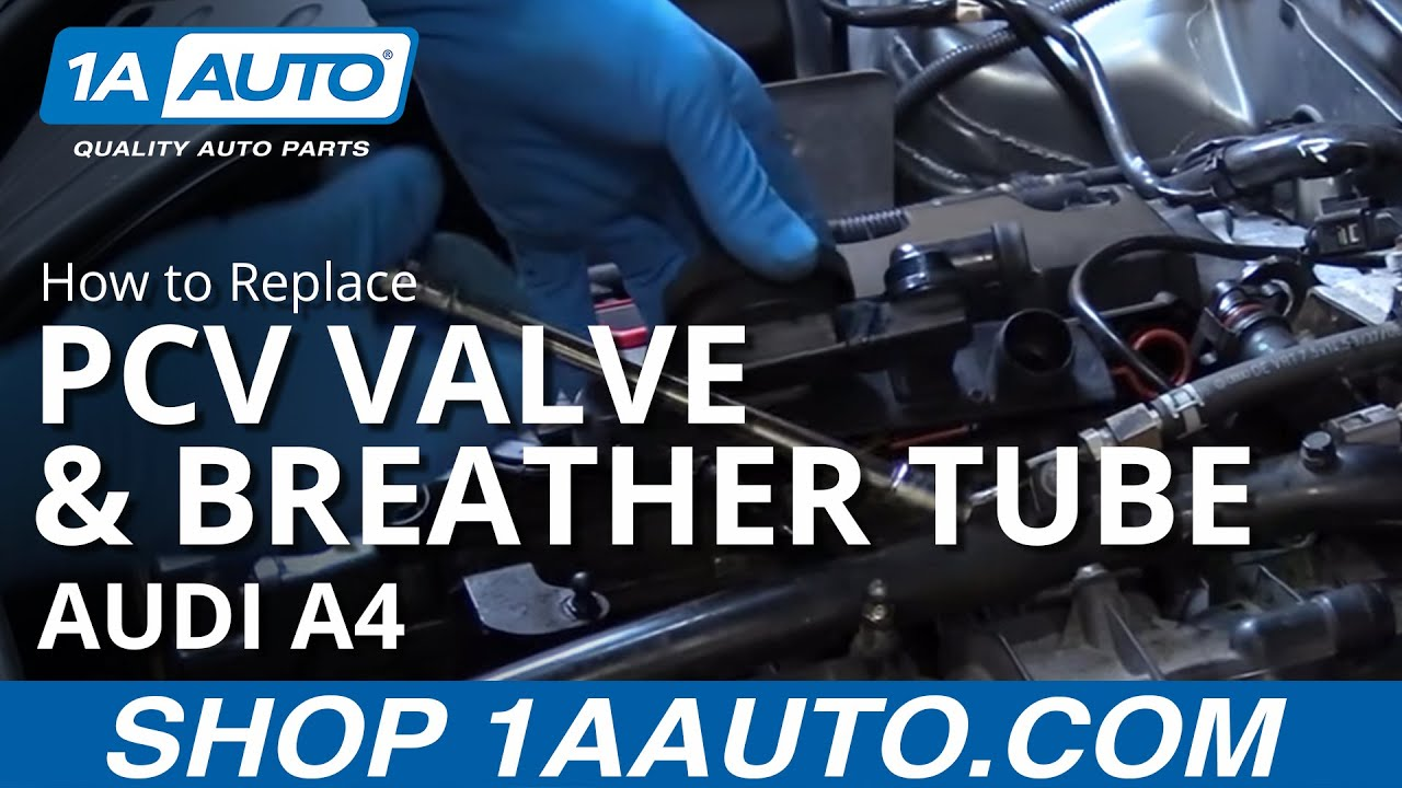How To Replace Pcv Valve And Valve Cover Breather Tube 04 09 Audi A4