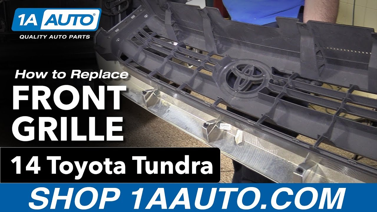 How to Replace Install Front Grille 14-16 Toyota Tundra