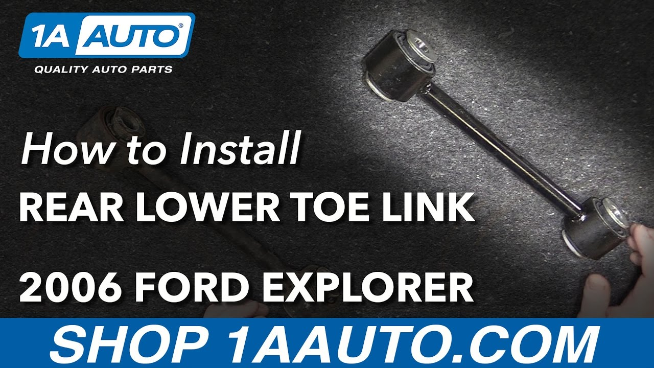 How to Install Rear Lower Transverse Toe Link 06-10 Ford Explorer