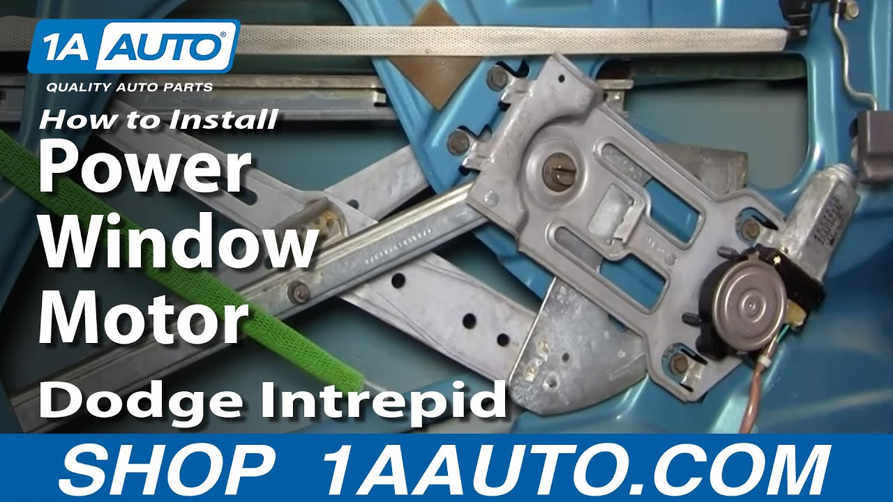 How to Replace Rear Power Window Motor 93-97 Dodge Intrepid