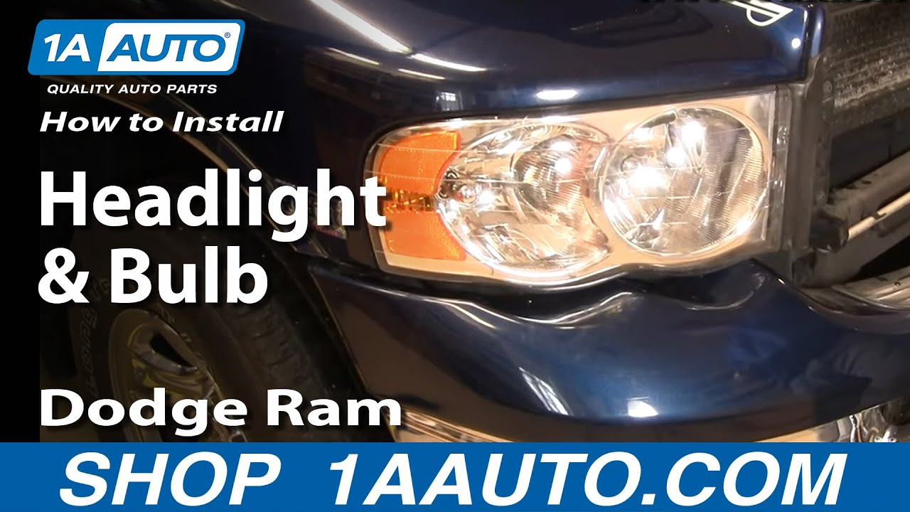How to Replace Headlights 02-05 Dodge Ram 1500