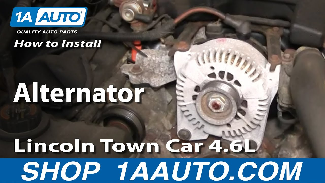 How to Replace Alternator 98-02 Lincoln Town Car