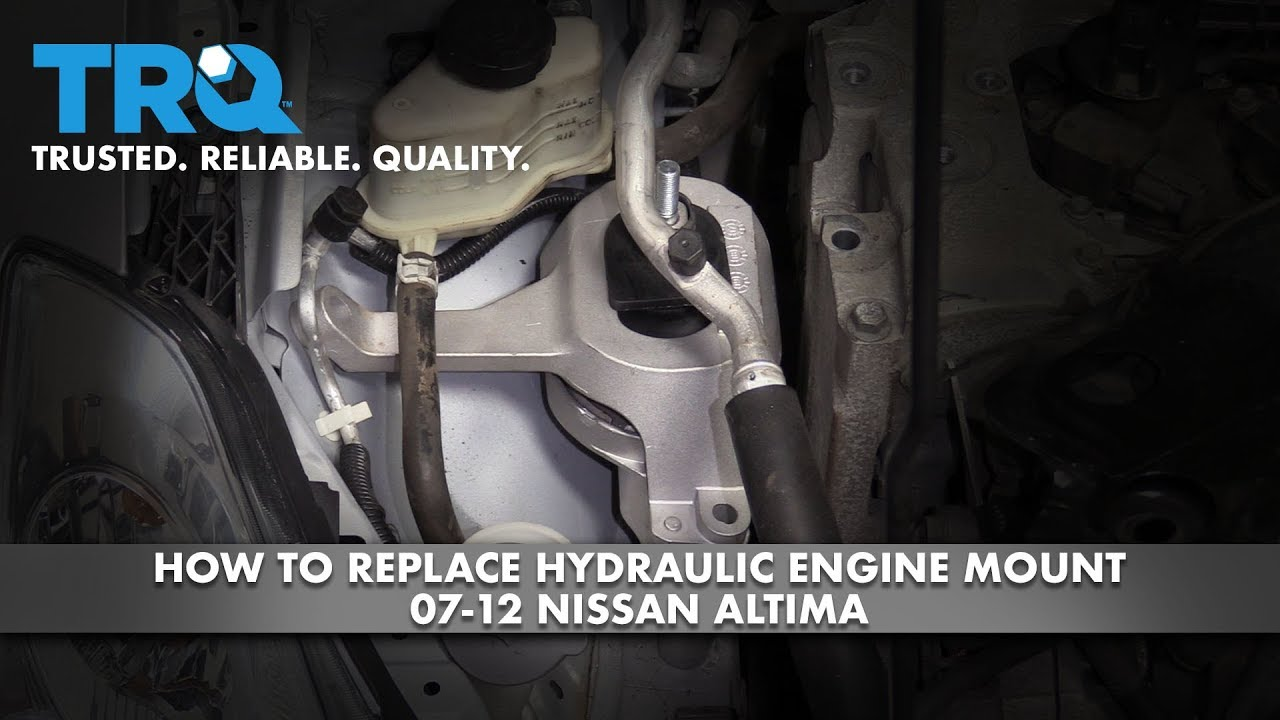 How to Replace Passenger Side Hydraulic Engine Mount 2007-12 Nissan Altima