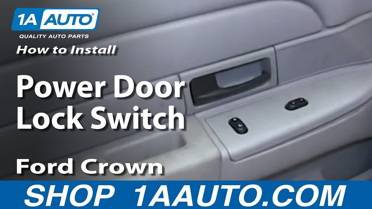 How to Replace Power Door Lock Switch 03-08 Ford Crown Victoria