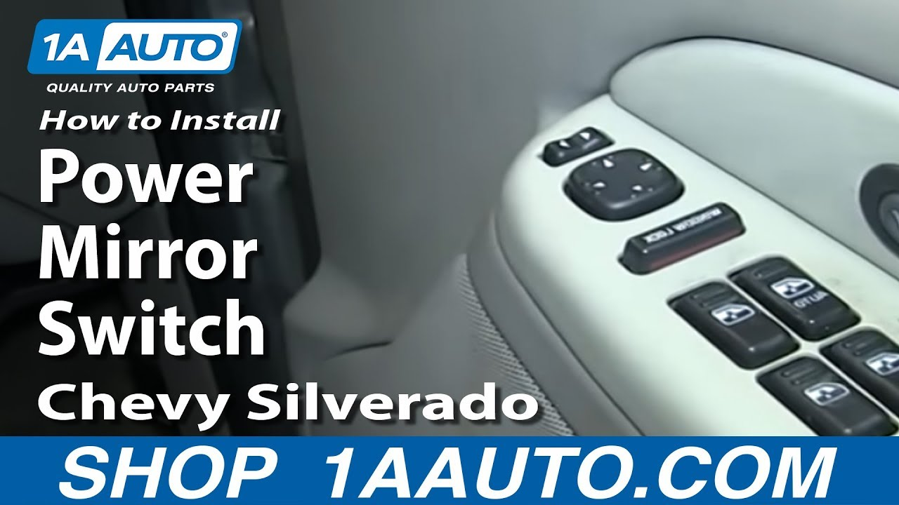 How to Replace Mirror Switch 00-02 Chevy Suburban