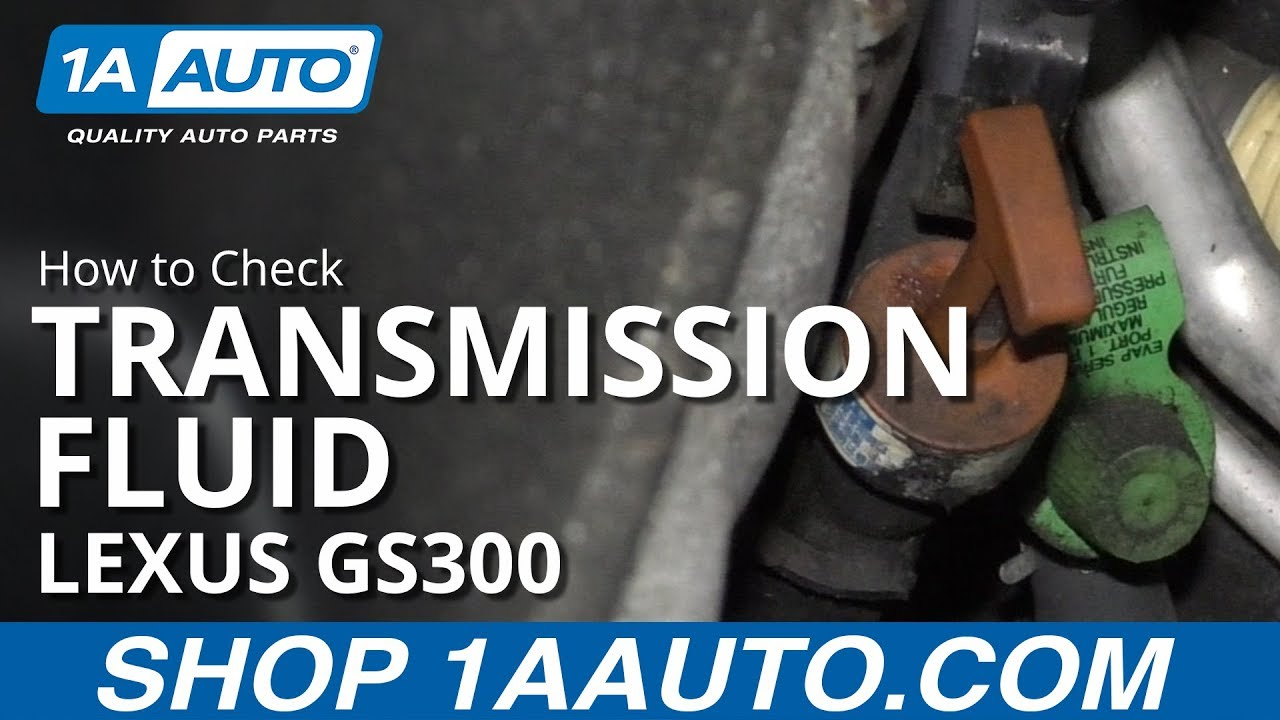 How to Check Transmission Fluid 97-05 Lexus GS300