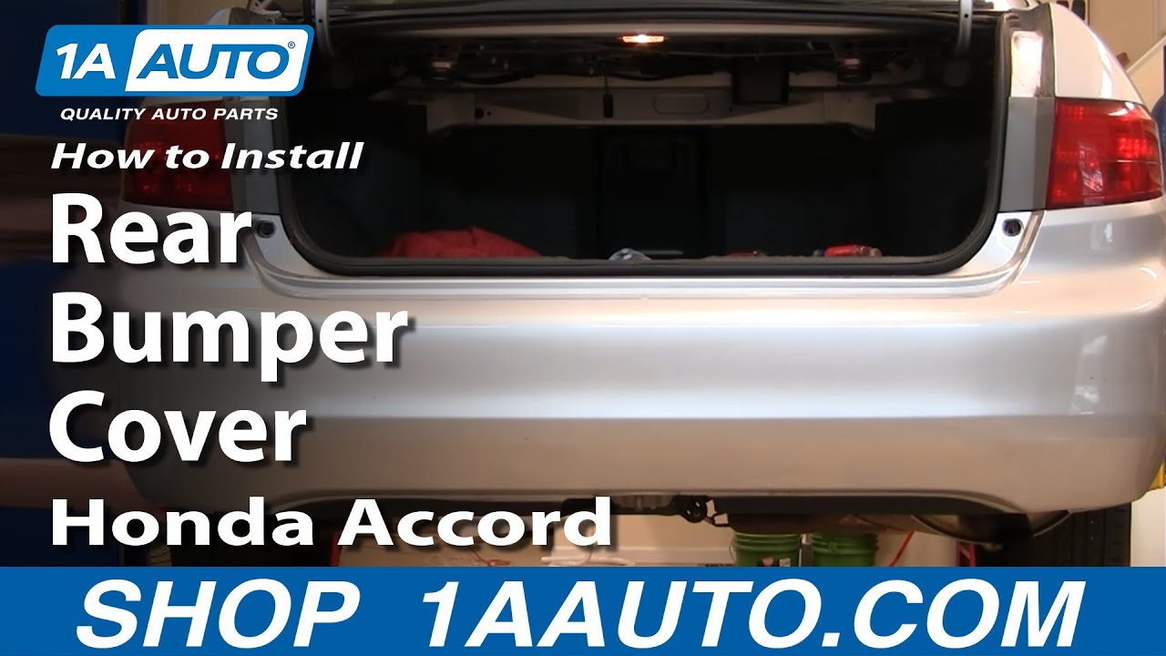 How To Replace Rear Bumper Cover 04-07 Honda Accord