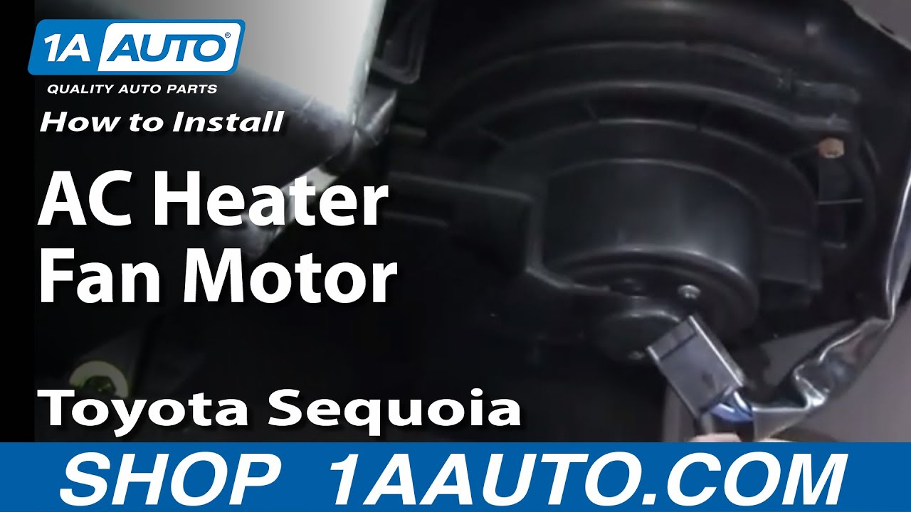 How to Replace Blower Motor w/ Fan Cage 01-07 Toyota Sequoia