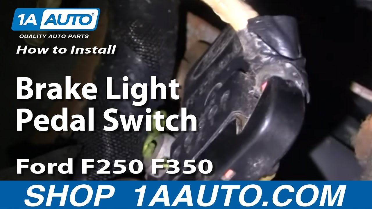 how to replace brake light switch 99 06 ford f250 super. Black Bedroom Furniture Sets. Home Design Ideas