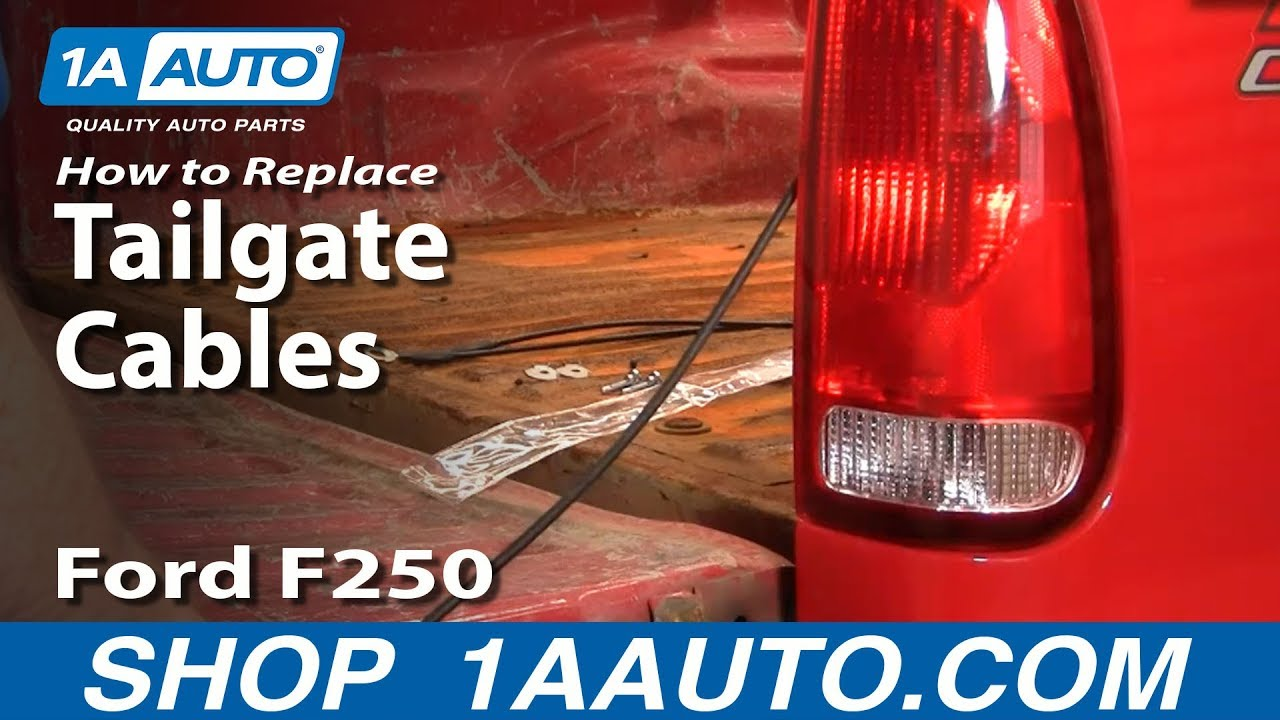 How to Replace Tailgate Cable 03-08 Ford F250 Super Duty