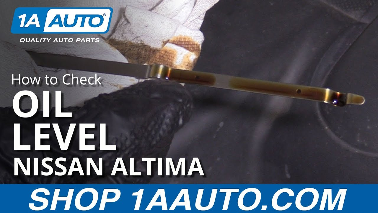 How to Check Oil Level 06-12 Nissan Altima
