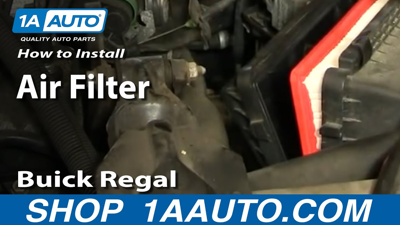 How To Replace Air Filter 97-05 Buick Regal Century