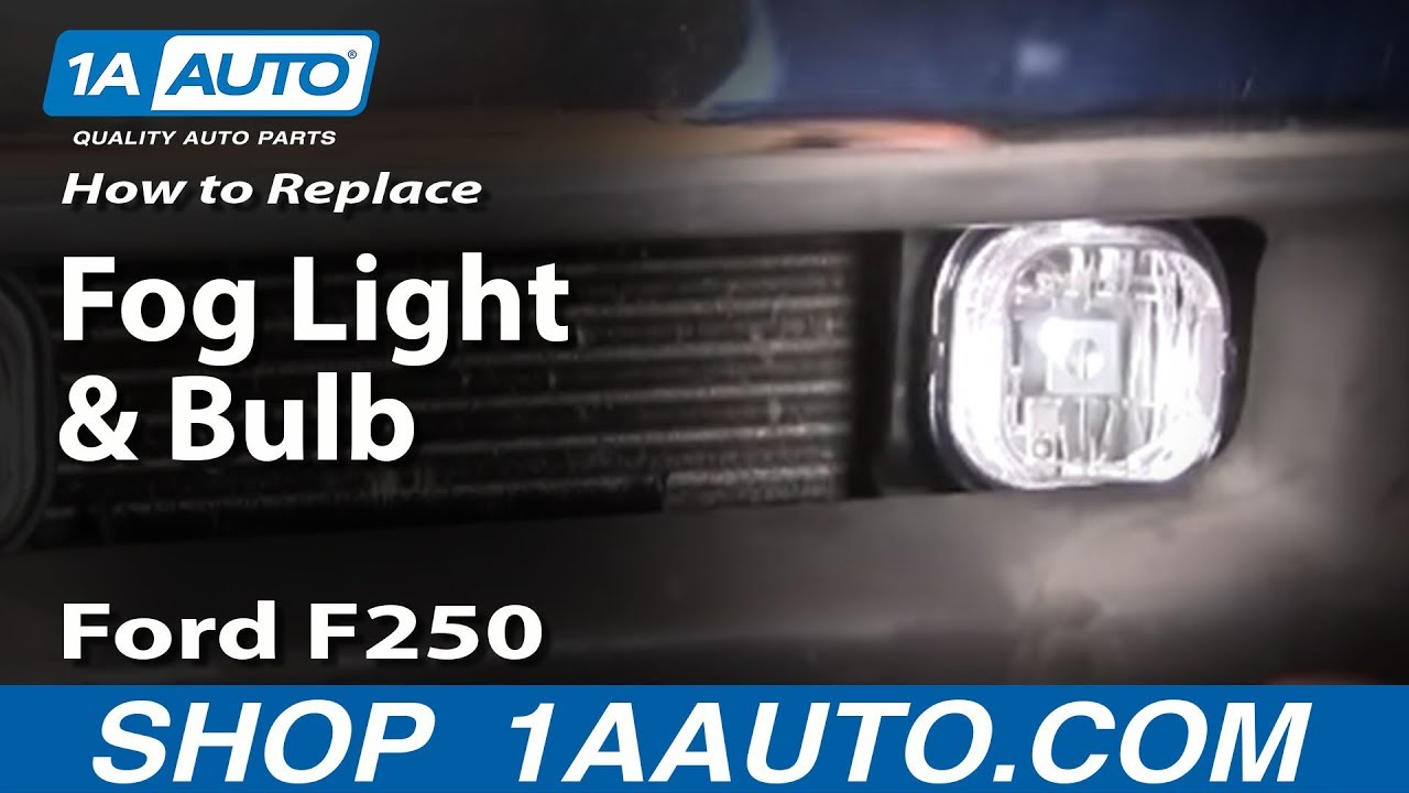 How to Replace Fog Light and Bulb 01-04 Ford F-250
