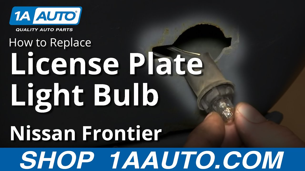 How to Replace License Plate Light and Bulb 01-04 Nissan Frontier