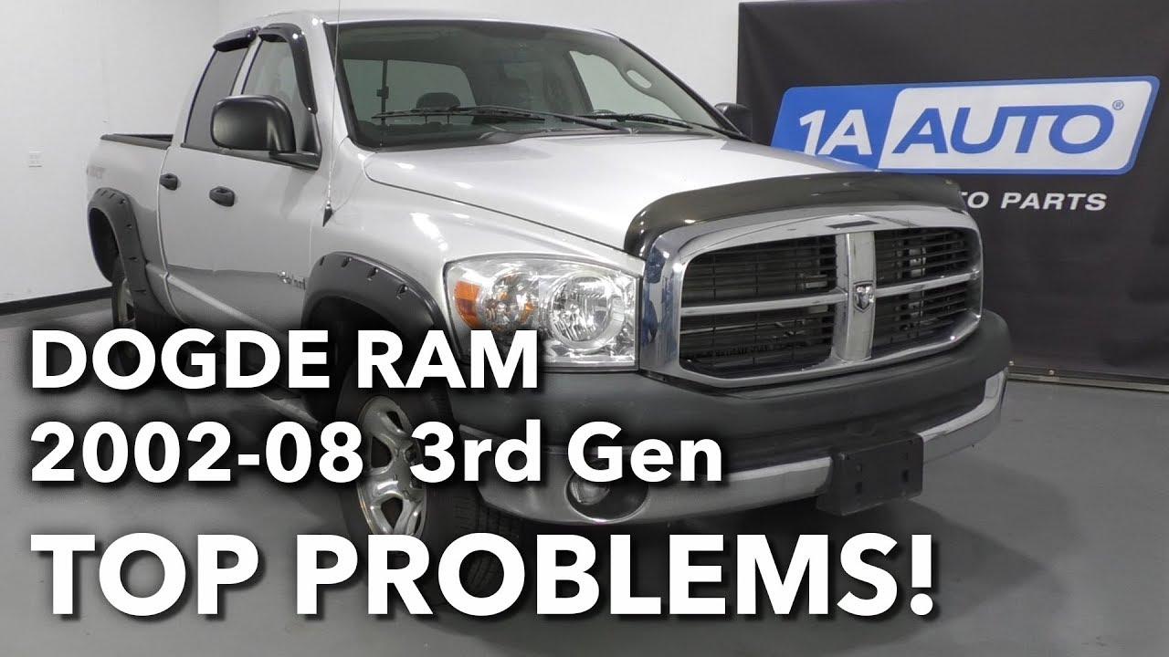 Top 5 Problems Dodge Ram Truck 3rd Generation 2002-08