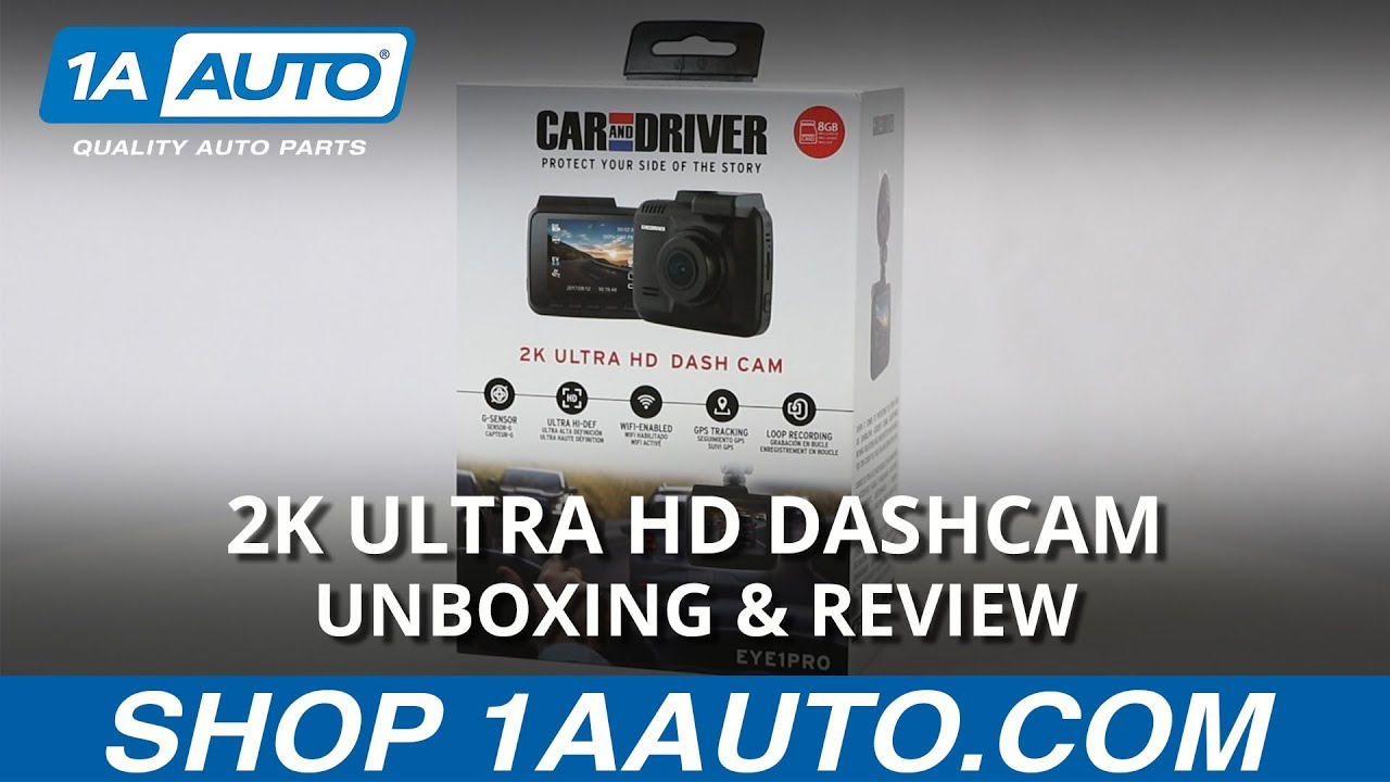 2K Ultra HD Dashcam - Unboxing & Review - Available on 1aauto.com
