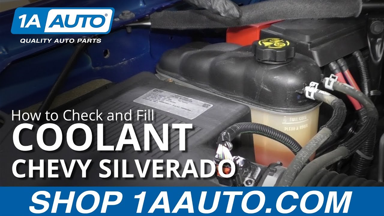 How to Check and Fill Coolant Fluid 14-19 Chevy Silverado