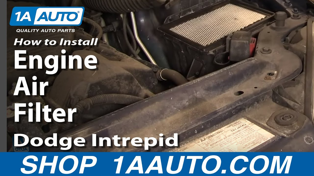 How To Replace Engine Air Filter 98-04 Dodge Intrepid