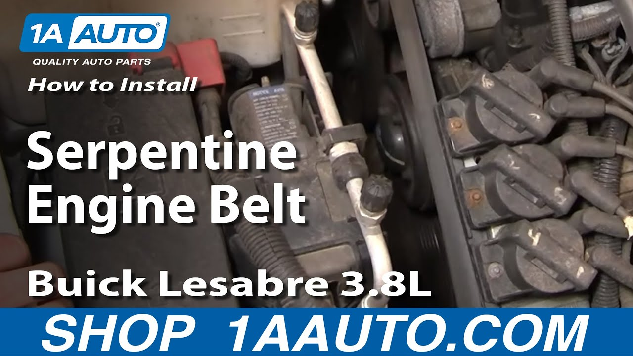 How to Replace Serpentine Belt 00-05 Buick LeSabre