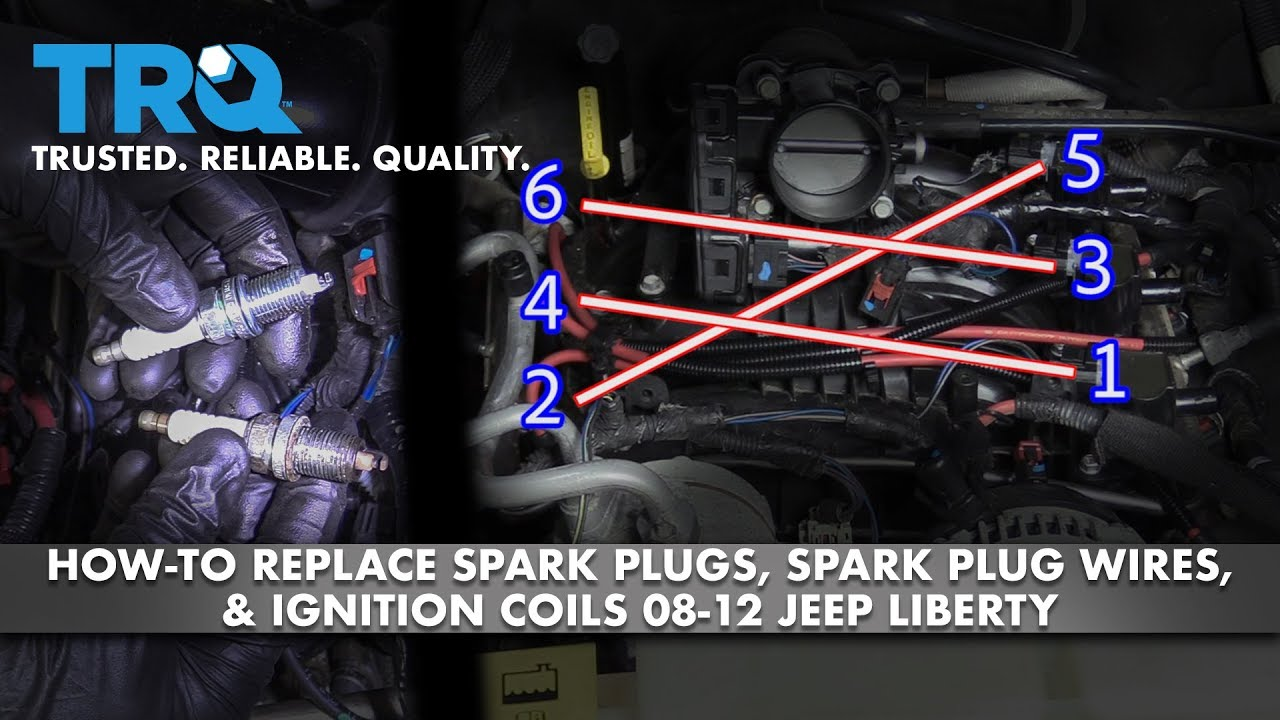 How to Replace Spark Plugs Ignition Coils  Spark Plug Wires08-12 Jeep Liberty