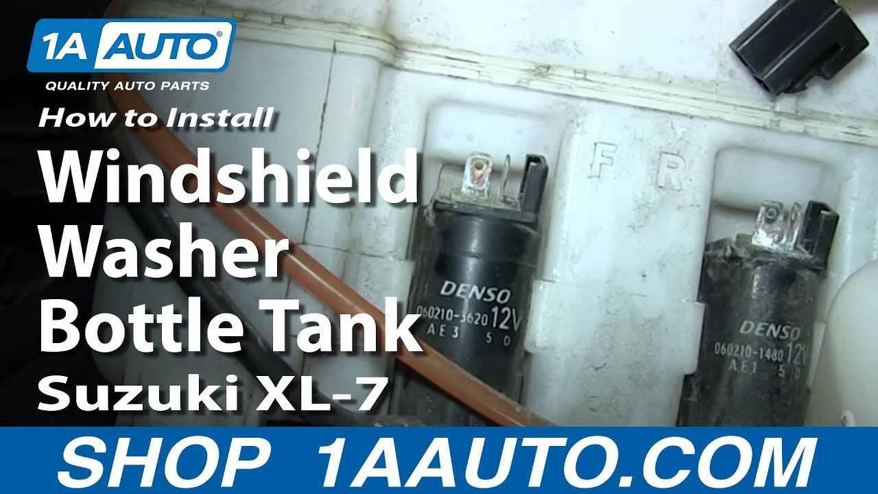 How to Replace Windshield Washer Reservoir 02-03 Suzuki XL-7