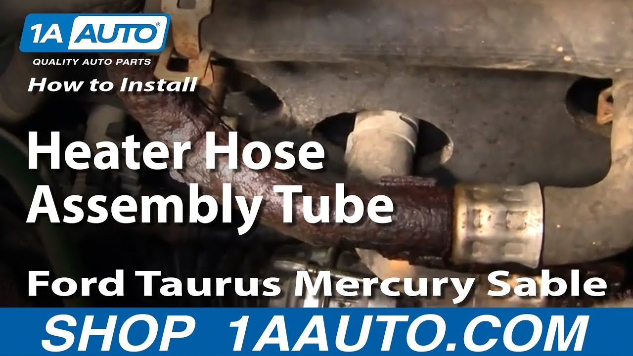 how to replace heater hose \u0026 tube assembly 00 05 ford taurus 1a autoFord Ranger Exhaust System Diagram As Well 2001 Ford Taurus Heater #8