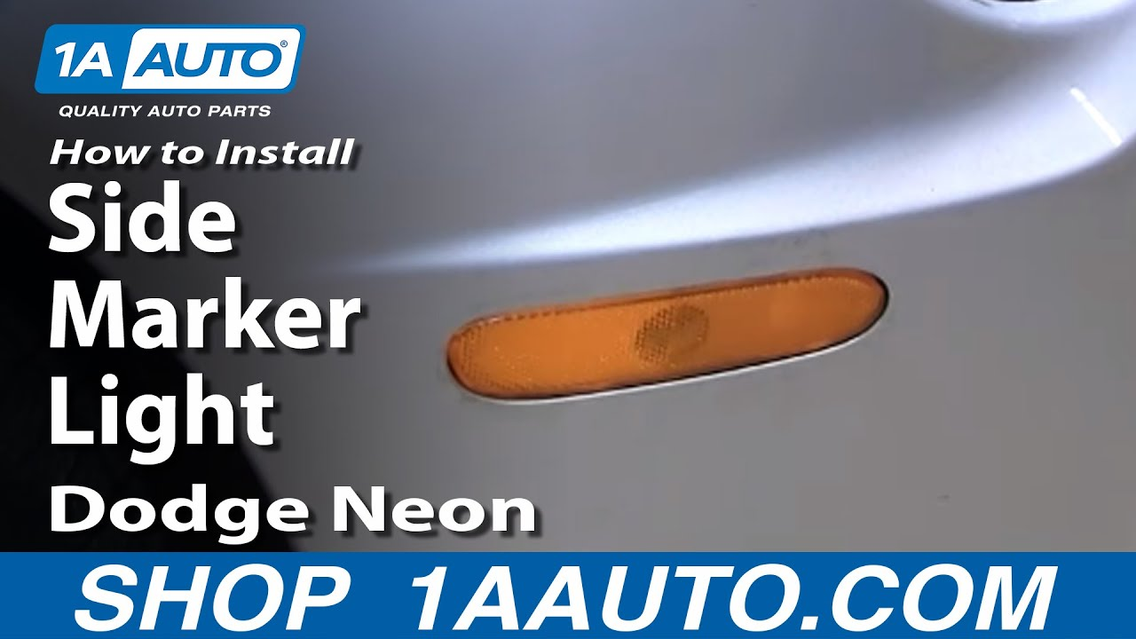 How to Replace Side Marker Light 00-05 Dodge Neon