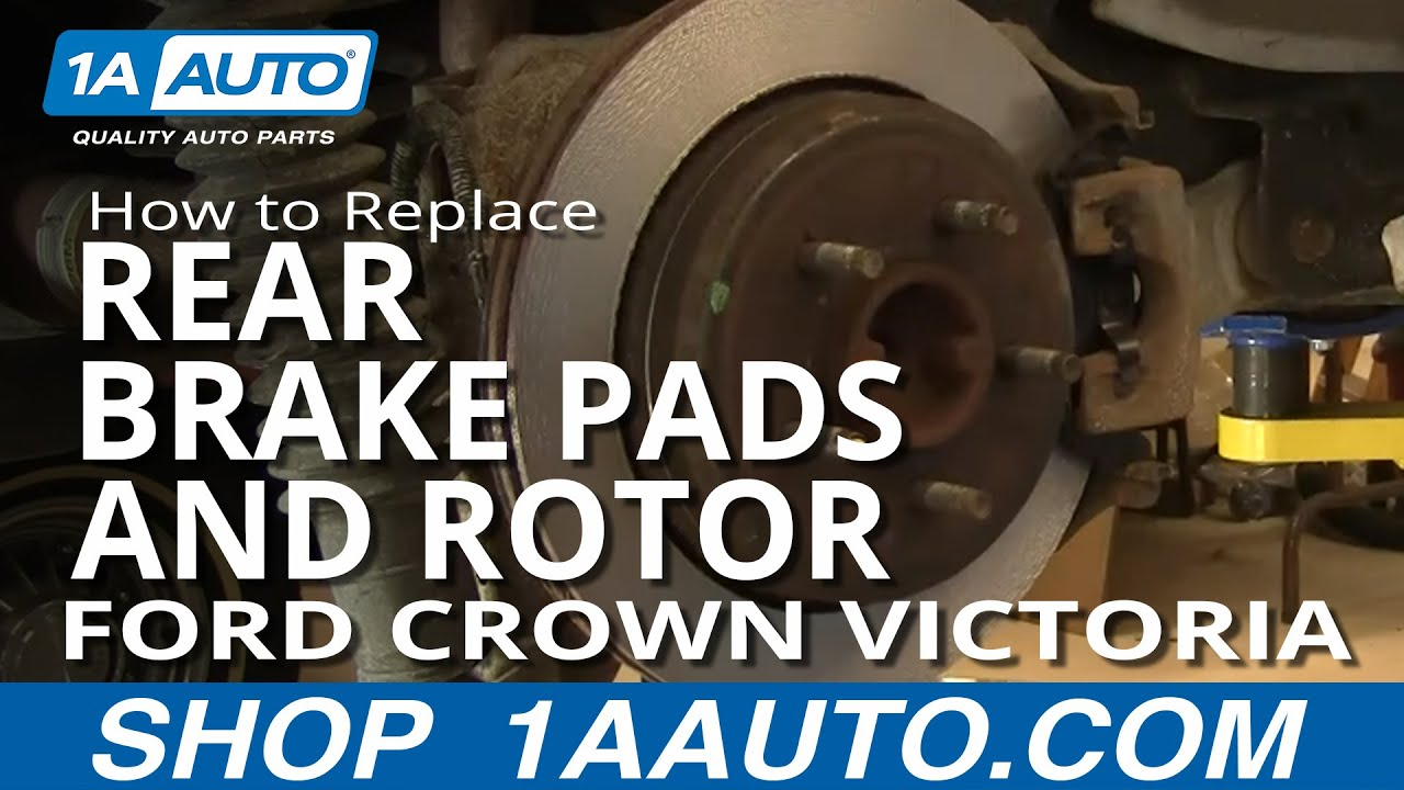 How to Replace Rear Brake Pads and Rotor 03-11 Ford Crown Victoria