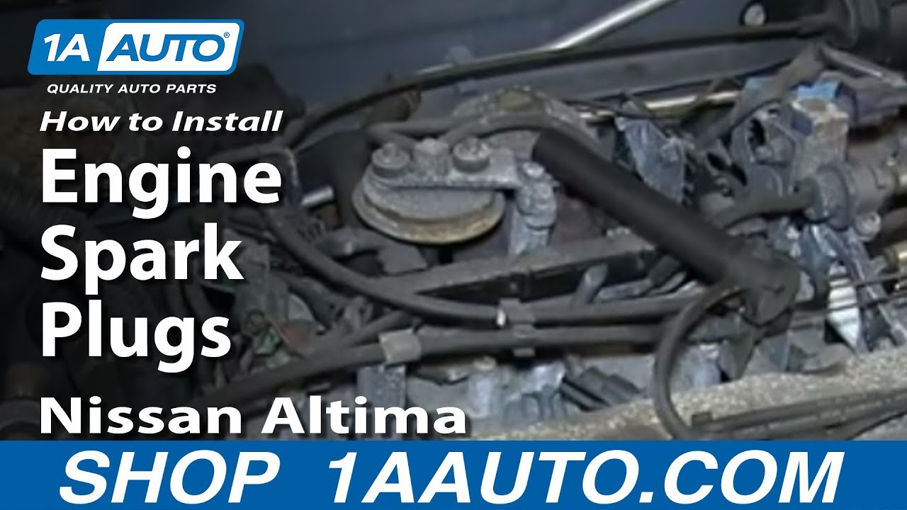 How to Replace Spark Plugs & Ignition Wires Kit 97-01 Nissan Altima