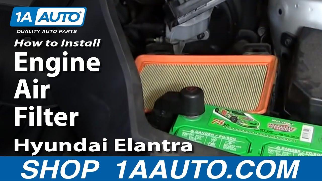 How To Replace Engine Air Filter Hyundai Elantra 01-06