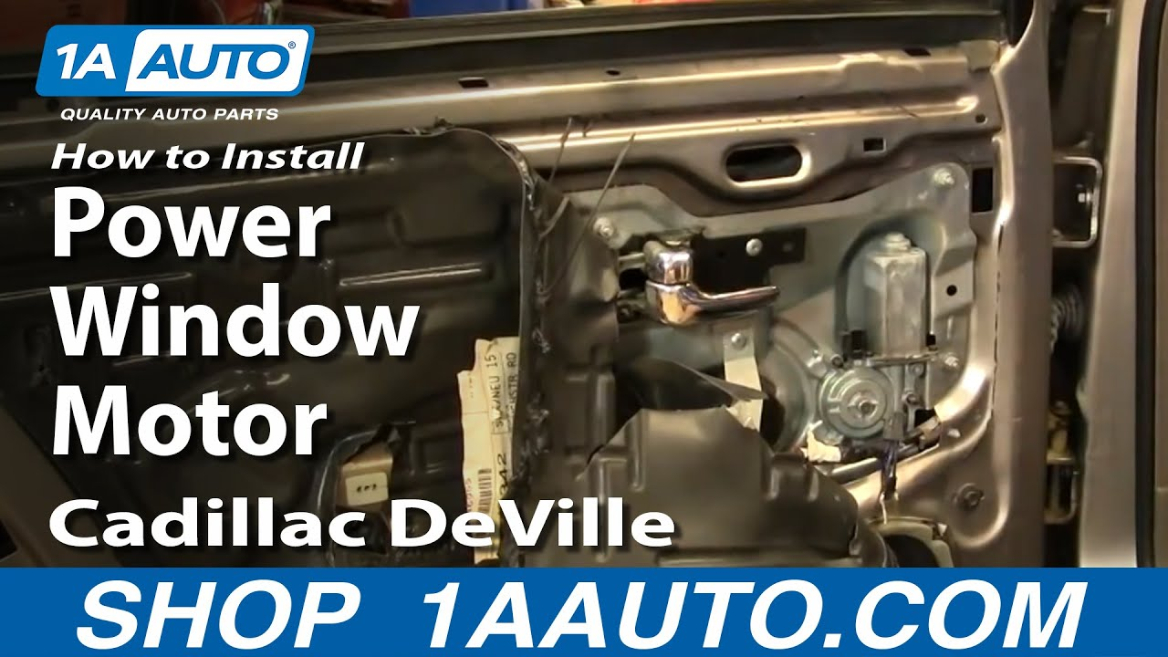 How to Replace Rear Power Window Motor 94-99 Cadillac Deville