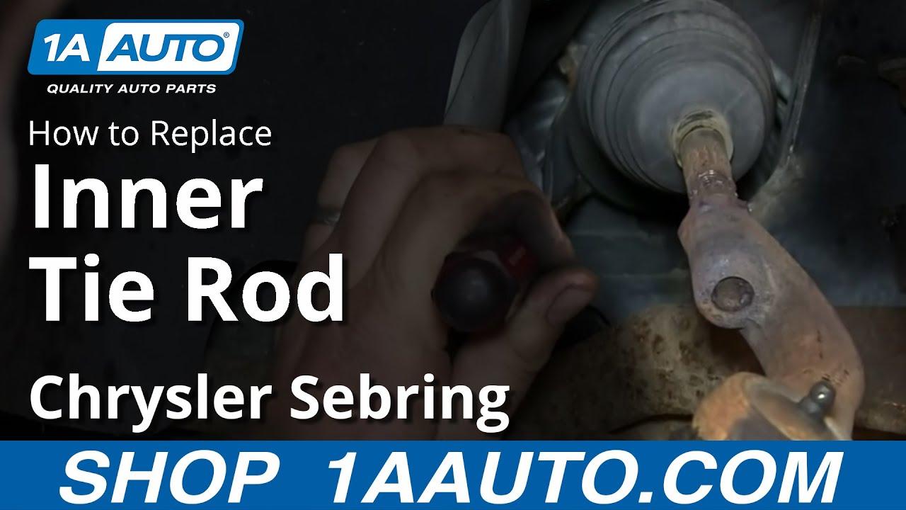 How to Replace Inner Tie Rod 01-05 Chrysler Sebring