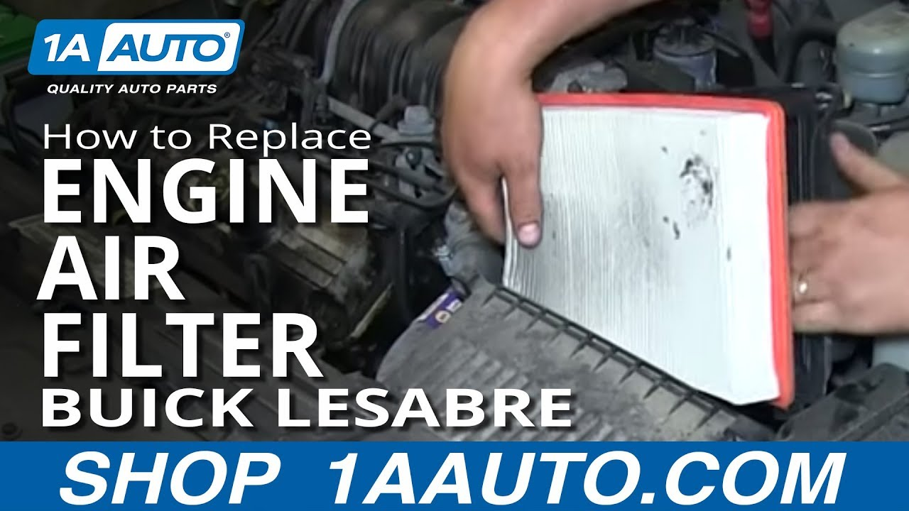 How To Replace Engine Air Filter 97-99 Buick Lesabre