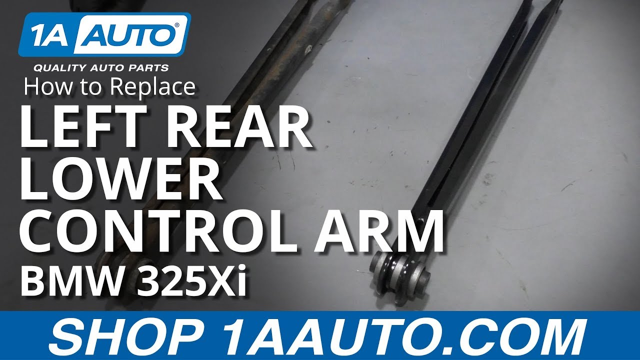 How to Replace Left Rear Lower Control Arm 01-06 BMW 325Xi