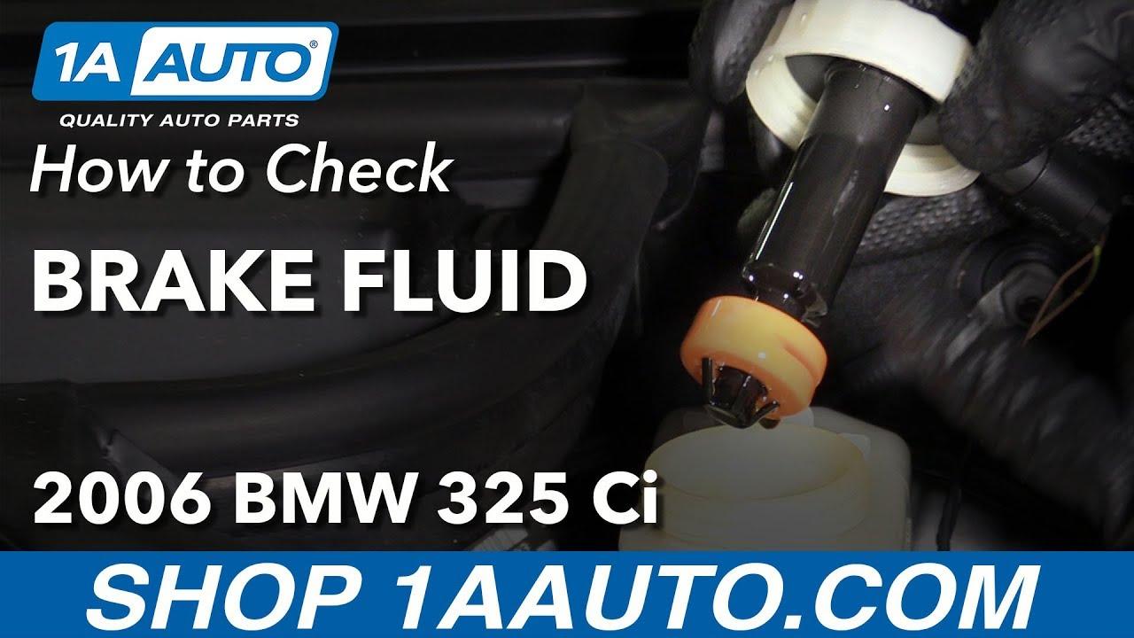 How to Check Brake Fluid 04-13 BMW 325Ci E46