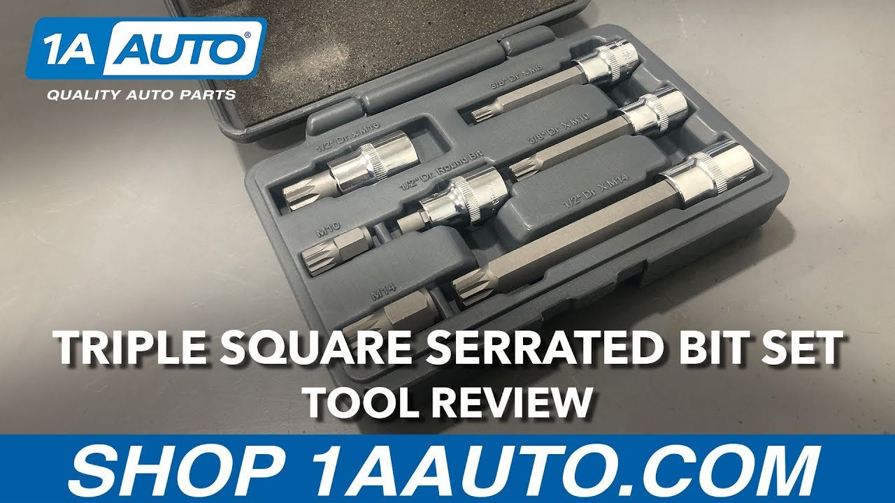 Triple Square Serrated Bit Set