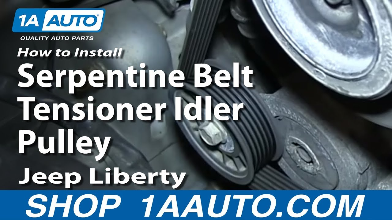 How to Replace Serpentine Belt Idler Pulley 04-13 Jeep Liberty