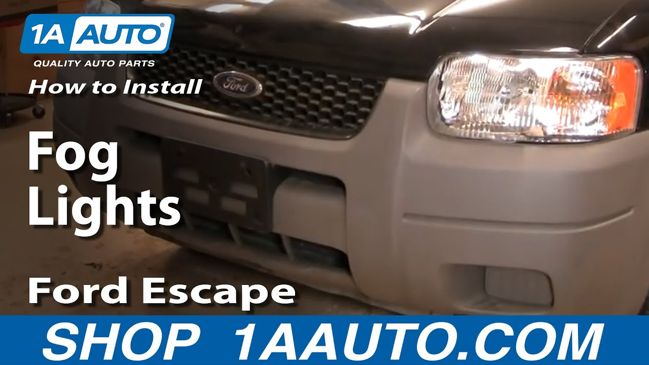 How to Replace Fog Light 01-04 Ford Escape