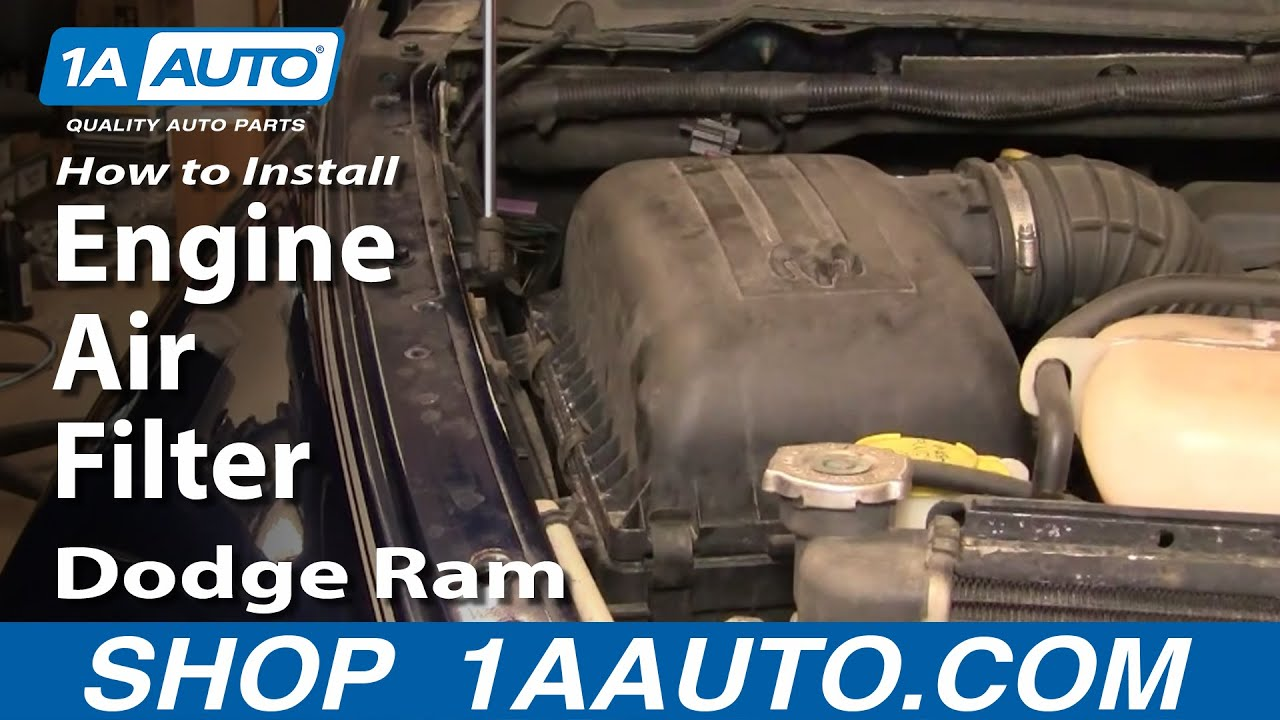 How To Replace Engine Air Filter 02-08 Dodge Ram