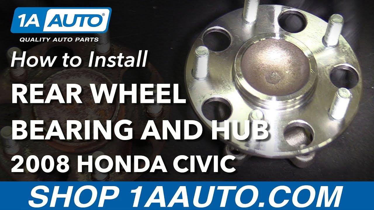 How to Replace Rear Wheel Bearing Hub Assembly 06-12 Honda Civic