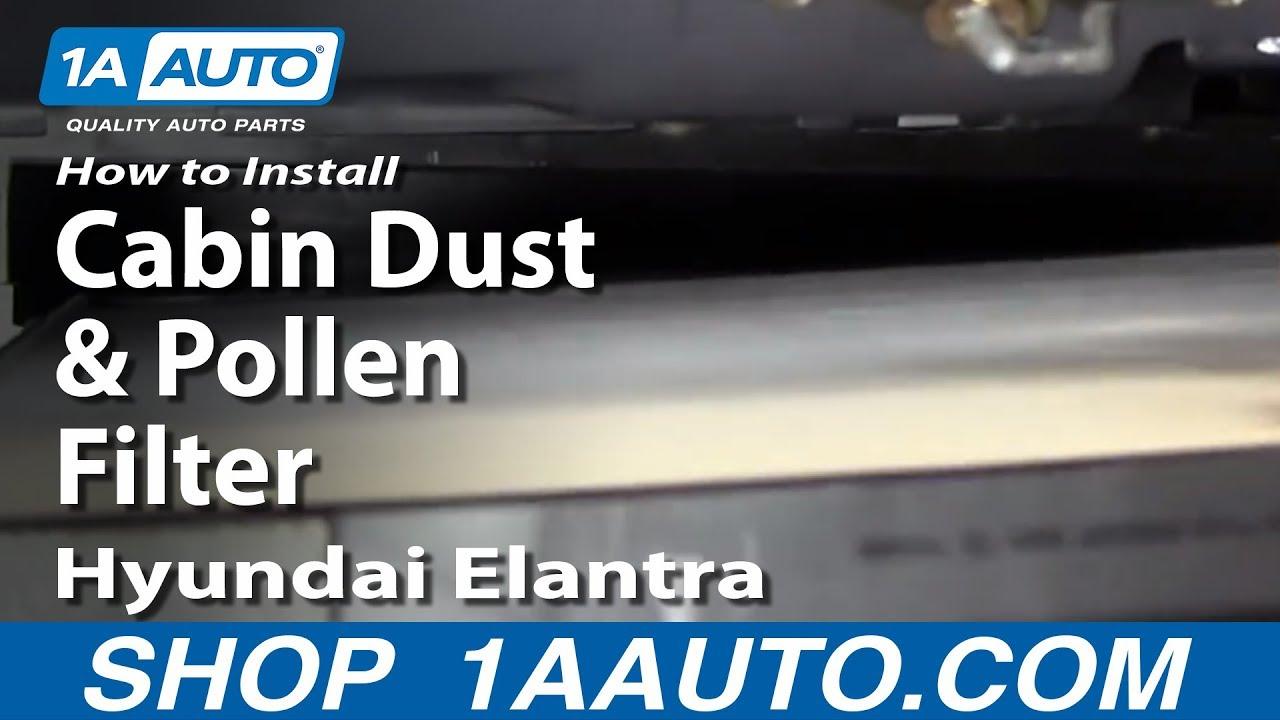 How to Replace Cabin Air Filter 01-06 Hyundai Elantra
